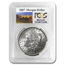 1887 Stage Coach Morgan Dollar BU PCGS