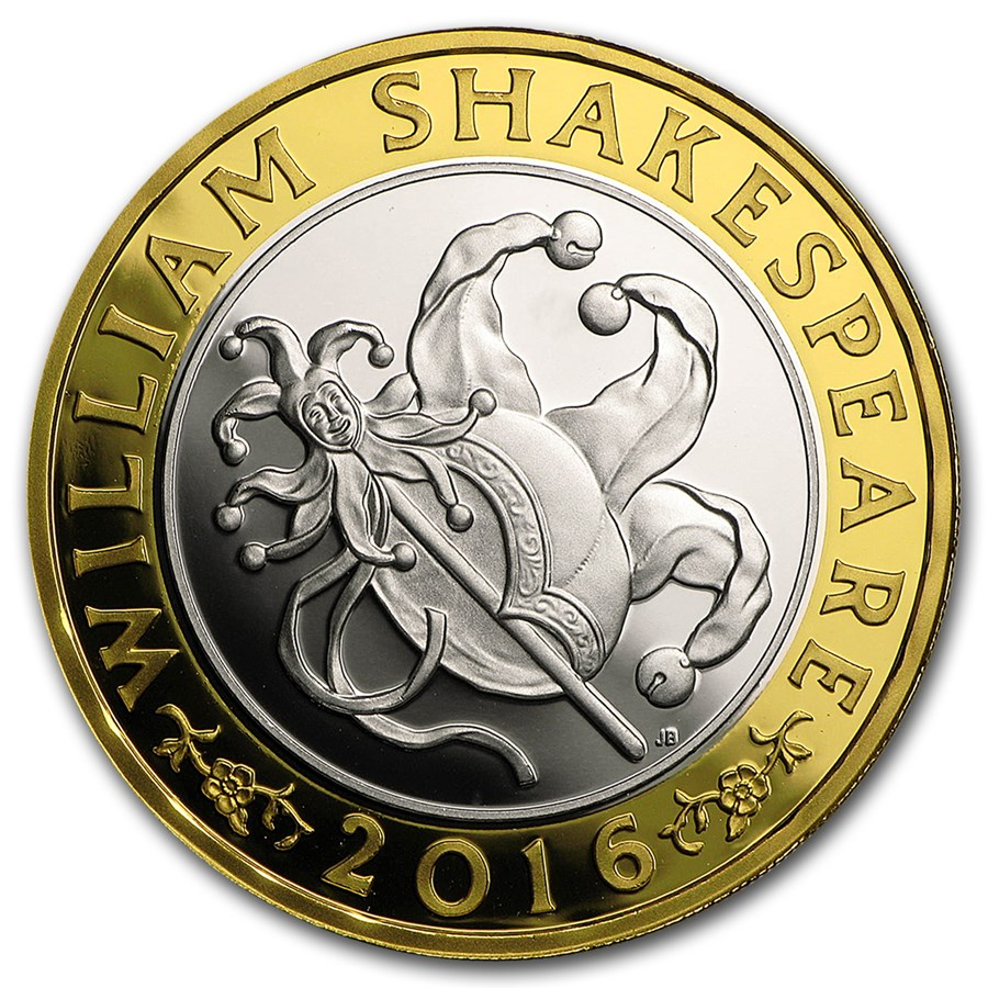 2016 Great Britain £2 Prf Silver Shakespeare: Comedies