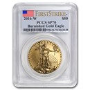 2016-W 1 oz Burnished Gold Eagle SP-70 PCGS (FirstStrike®)