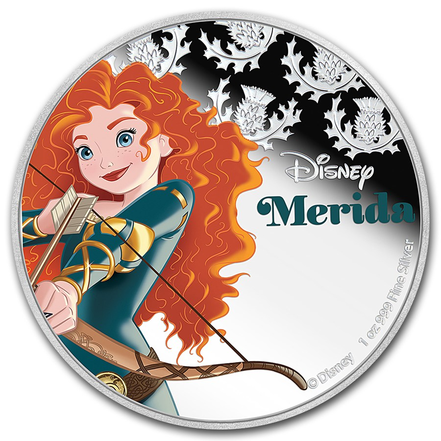 2016 Niue 1 oz Silver $2 Disney Princess Merida