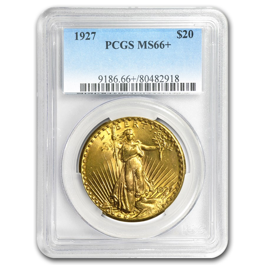 $20 Saint-Gaudens Gold Double Eagle MS-66+ PCGS (Random)
