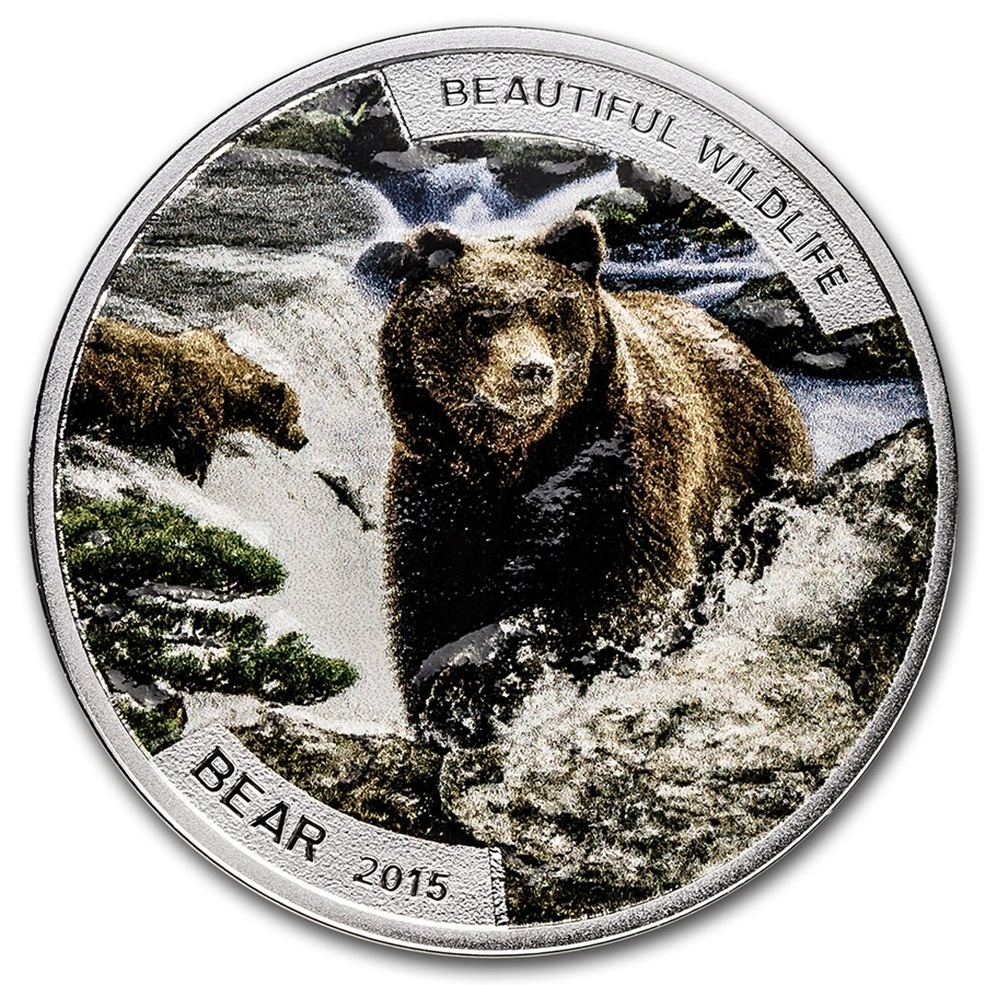 2015 Niue 1 oz Silver Beautiful Wildlife Bear