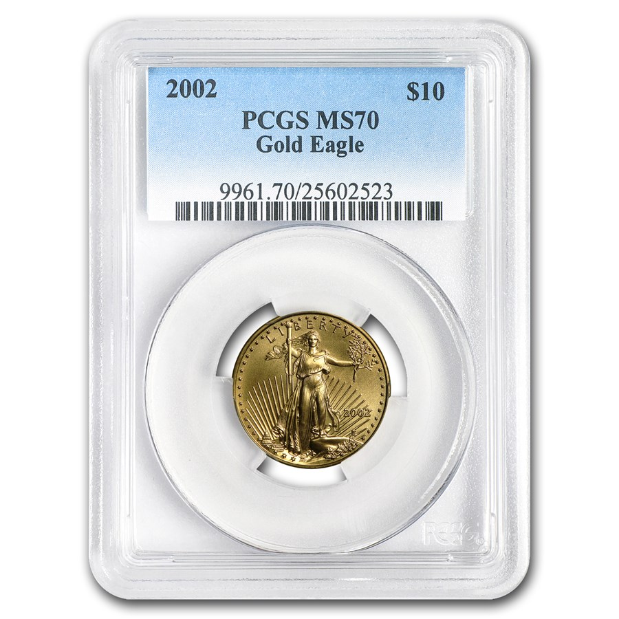 2002 1/4 oz Gold American Eagle MS-70 PCGS