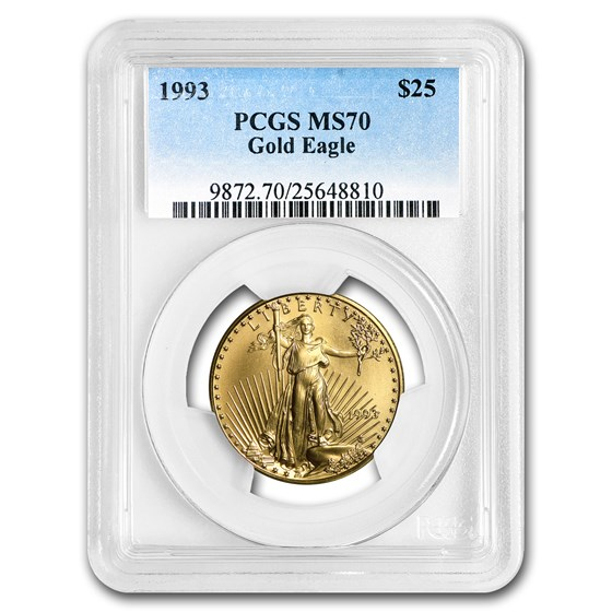 1993 1/2 oz Gold American Eagle MS-70 PCGS