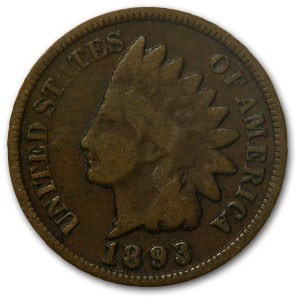 1893 Indian Head Cent Good+