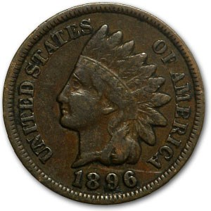 1896 Indian Head Cent Good+