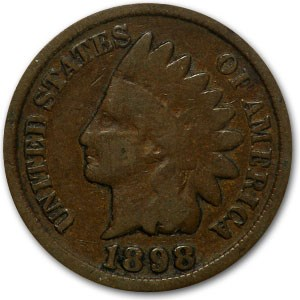 1898 Indian Head Cent Good+