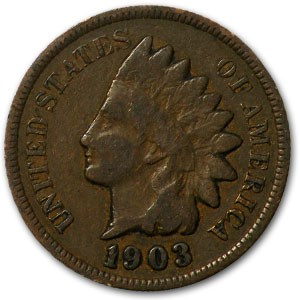 1903 Indian Head Cent Good+