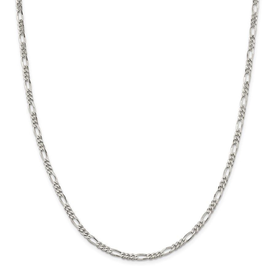 Sterling Silver 4 mm Figaro Chain - 20 in.