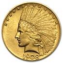10-indian-head-eagle-coins-1907-1933