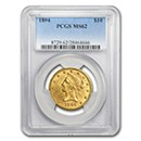 10-liberty-eagle-coins-1838-1907-pcgs-certified