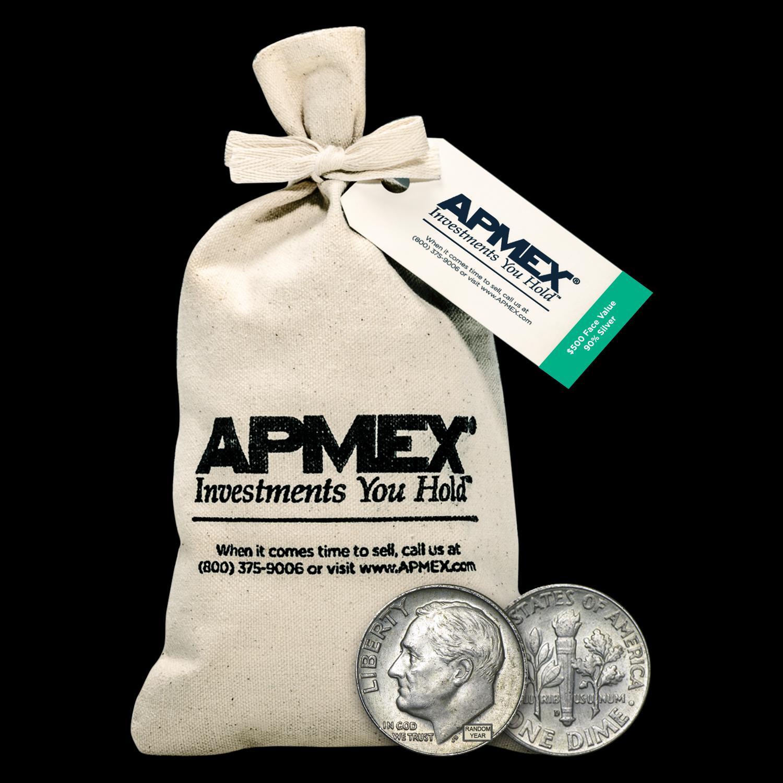 Roll of 50 D5 90/% Silver Mercury Dimes,