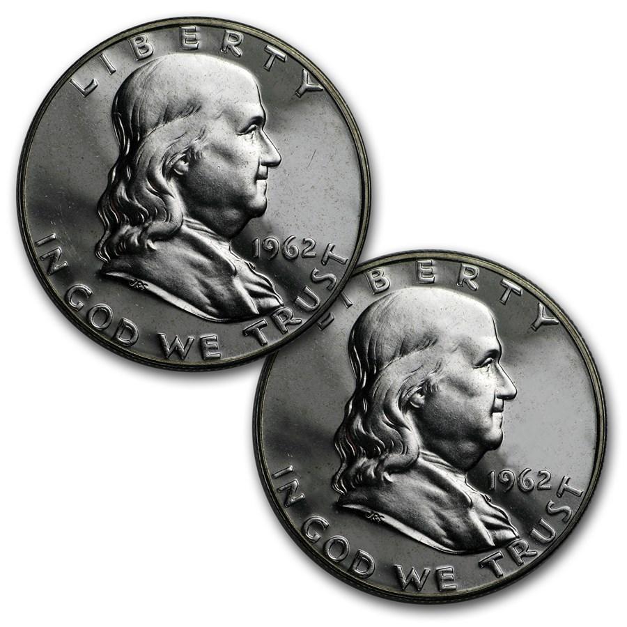 $1.00 Face Value Franklin Halves Proof