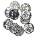 $1.00 Face Value Silver Roosevelt Dimes BU