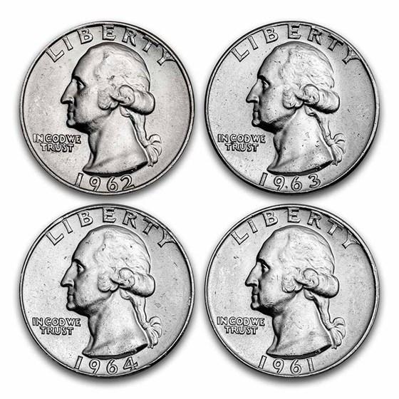 $1.00 Face Value Washington Quarters BU