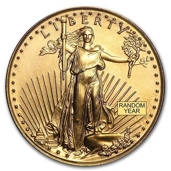 American Gold Eagle Random Date 1//10 oz BU $5