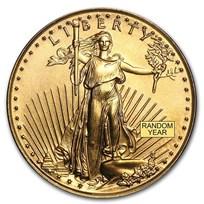 1/10 oz American Gold Eagle Coin BU (Random Year)