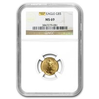 1/10 oz American Gold Eagle MS-69 NGC (Random Year)
