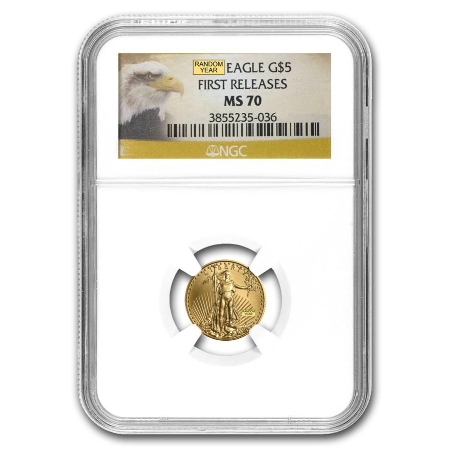 1/10 oz American Gold Eagle MS-70 NGC (Random Year)