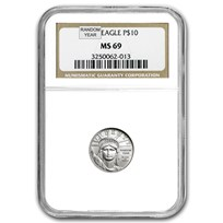 1/10 oz American Platinum Eagle MS-69 NGC (Random Year)