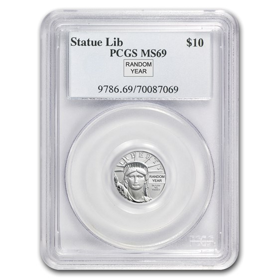 1/10 oz American Platinum Eagle MS-69 PCGS (Random Year)