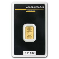 1/10 oz Gold Bar - Argor-Heraeus (In Assay)