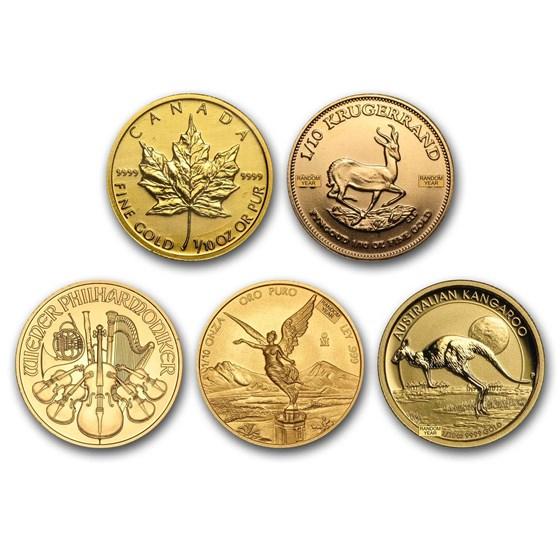 1/10 oz Gold Coin - Random Mint