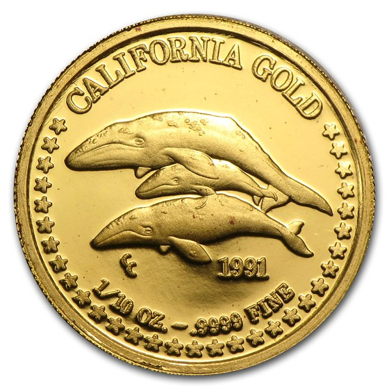 1/10 oz Gold Round - Great Seal of California