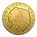 1/10 oz Gold Round - Incuse Indian