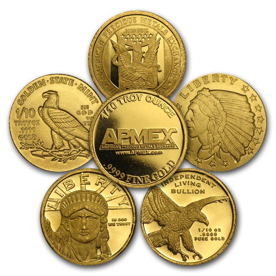 1/10 oz Gold Round - Secondary Market