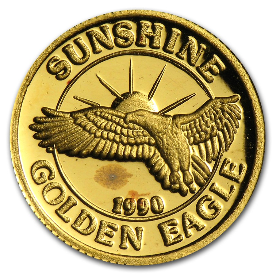 1/10 oz Gold Round - Sunshine Minting/Mining (Golden Eagle)