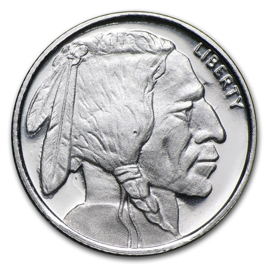 1/10 oz Silver Round - Buffalo