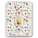 1/2 gram Gold Bar - APMEX (Christmas Collage, In TEP Package)