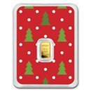 1/2 gram Gold Bar - APMEX (Christmas Trees Red Card, In TEP)