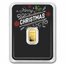 1/2 gram Gold Bar - APMEX (Merry Christmas Black Card, In TEP)