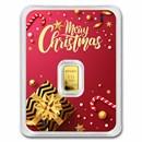 1/2 gram Gold Bar - APMEX (Merry Christmas Elegant Card, In TEP)