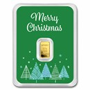 1/2 gram Gold Bar - APMEX (Merry Christmas Green Card, In TEP)