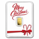 1/2 gram Gold Bar - APMEX (Merry Christmas White, In TEP)