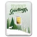 1/2 gram Gold Bar - APMEX (Season's Greetings, In TEP Package)