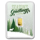 1/2 gram Gold Bar - APMEX (Season's Greetings, In TEP)