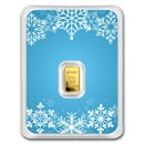 1/2 gram Gold Bar - APMEX (Snowflake, In TEP)