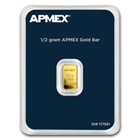 1/2 gram Gold Bar - APMEX (TEP)