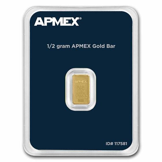 1/2 gram Gold Bar - APMEX (TEP)