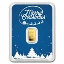 1/2 gram Gold Bar - APMEX (w/Blue Merry Christmas Card, In TEP)