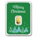1/2 gram Gold Bar - APMEX (w/Green Merry Christmas Card, In TEP)