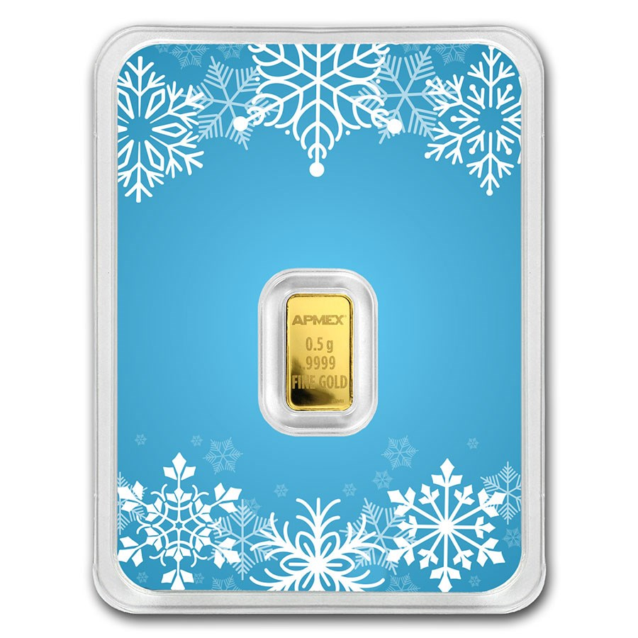 1/2 gram Gold Bar - APMEX (w/Snowflake Card, In TEP)