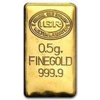 1/2 gram Gold Bar - Secondary Market