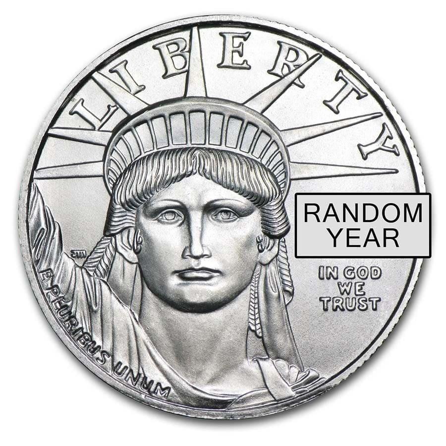 1/2 oz American Platinum Eagle Coin BU (Random Year)