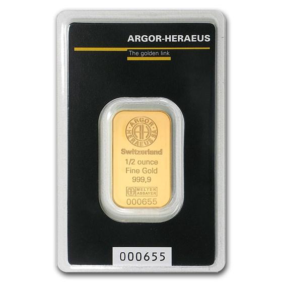 1/2 oz Gold Bar - Argor-Heraeus (In Assay)