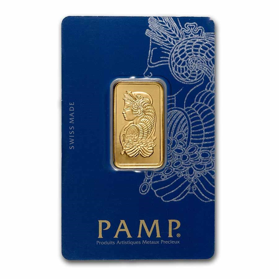 1/2 oz Gold Bar - PAMP Suisse Lady Fortuna Veriscan® (In Assay)